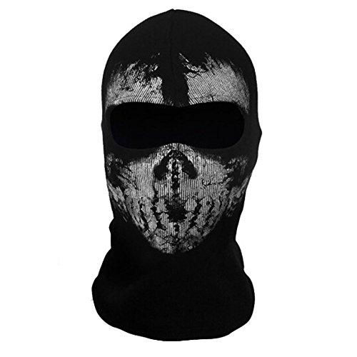 Onairmall Call of Duty 10 COD Ghost Hoods Skull Skeleton Head Mask Hood -
