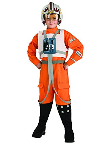 Rubies Star Wars Classic Child's Deluxe X-Wing Pilot Costume, -