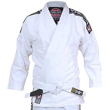 e55ff5c0ba84 Kimono Valor Bravura de jiu-jitsu br eacute silien blanc avec ceinture  blanche incluse