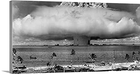 John Parrot Gallery-Wrapped Canvas entitled A nuclear weapon test by the American military at Bikini Atoll, (Exploding Smoke Bombs)