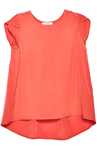 Price comparison product image Big Girls Kids Solid Chiffon Blouse Layered Cap Sleeves Flare Top USA COR XL