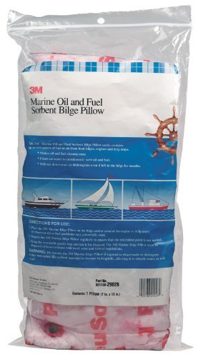 3M 29026 Marine Oil and Fuel Absorbent Bilge Pillow, 7'' x 15''