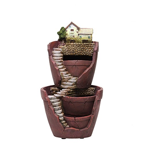 Yikush Pot Fairy Garden Decorative Planter for Succulent - Double-deck