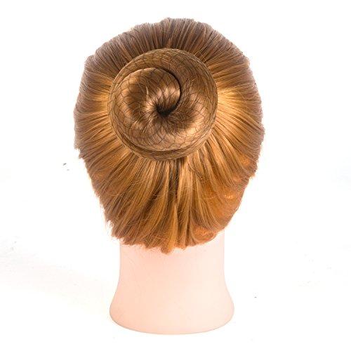 20 Pcs Invisible Hair Nets Elastic Edge Mesh for Women Bun,Black (Bun Net Black)