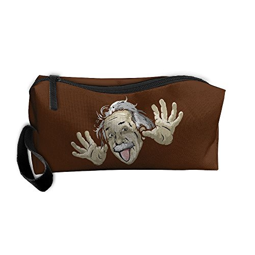 Funny Albert Einstein Portable Receiving Bag Make-up Cosmetic Bag Sewing Kit Stationery Bags Multi-function Bag
