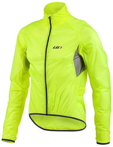 (Louis Garneau Men's X-Lite Bike Jacket, Bright Yellow,)