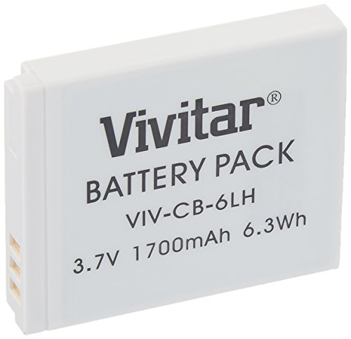 - Vivitar NB-6L / NB-6LH Ultra High Capacity 1700mAh Li-ion Replacement Battery for Select Canon Digital Cameras
