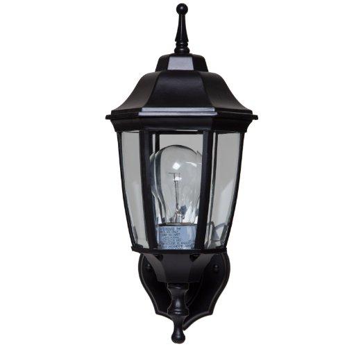 Boston Harbor 5397971 Dimmable Outdoor Lantern, (1) 60/13 W Medium A19/CFL Lamp, Black (Wall 13w Cfl)