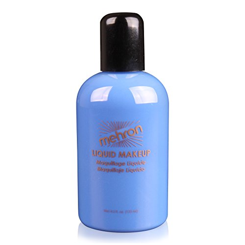 [Mehron Makeup Liquid Face & Body Paint, BLUE – 4.5oz] (All Black Costume Ideas For Halloween)