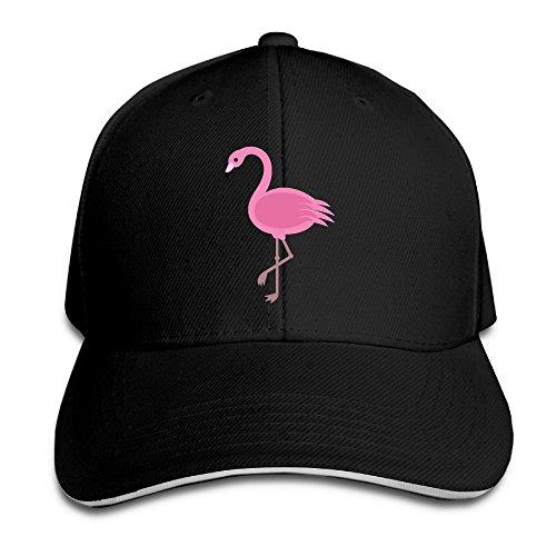 Macevoy Pink Flamingo Casual Unisex Unstructured Cotton Cap Adjustable Baseball Hat Cap Black