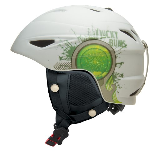Lucky Bums Alpine Series Firecracker Helmet, White, Medium, Outdoor Stuffs