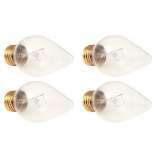 OCSParts Shatter Resistant 60W 120V Torpedo Shape Light Bulb (Pack of 4) ()