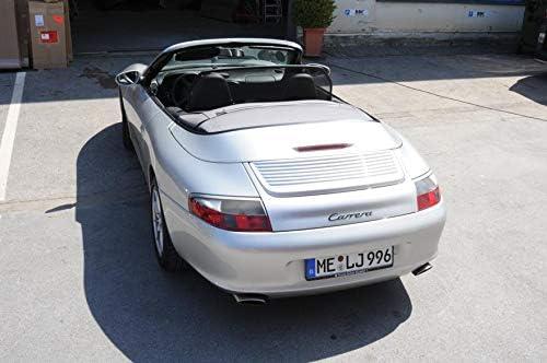 996-997 Black Tailor Made Windblocker Draft-Stop Wind Stop Porsche Convertible Aperta Wind Deflector fits Porsche 911 911