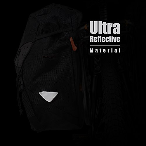 Ibera Bicycle Bag PakRak Clip-On Quick-Release All Weather Bike Panniers (Pair), Includes Rain Cover by Ibera (Image #7)