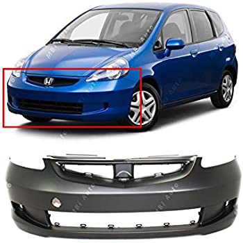 Primered MBI AUTO HO1100255 Rear Bumper Cover Replacement for 2009-2014 Honda Fit Hatchback 09-14