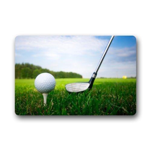 Golf Clubs Brassie and Golfball Doormat Door Mat Rug Indoor/Outdoor/Floor Mat Rug for Home/Office/Bedroom (Brassie Golf Shoes)