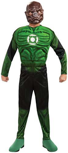 Green Lantern Child's Deluxe Kilowog Costume with Muscle Chest - One Color - Large