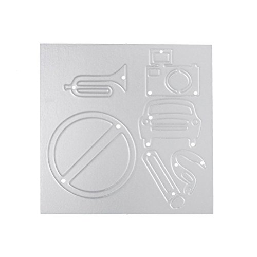 Merry Christmas Metal Cutting Dies Stencils Scrapbooking Embossing DIY Crafts by Topunder C]()