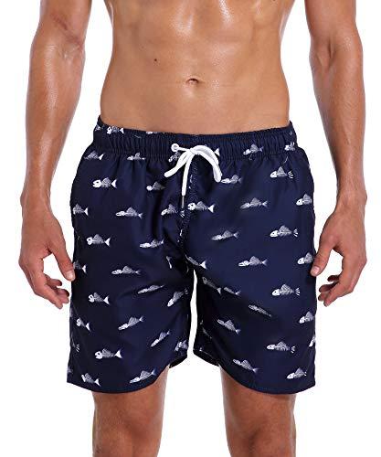 Fish Trunks - Milankerr Men's Swim Trunk Beach Shorts (S(Waistline:28