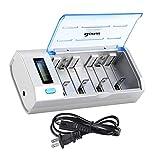BONAI LCD Universal Battery Charger for AA, AAA, C, D, 9V Ni-MH Ni-CD