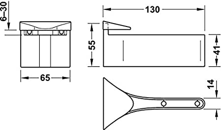 gedotec dise/ño Soporte Estantes de cristal Consola de pared modelo cara de metal regalboden-tr/äger con capacidad de carga 50KG espesor /útil 3-38mm M/énsula Cromado Pulido Marca PARA SU SALA DE ESTAR