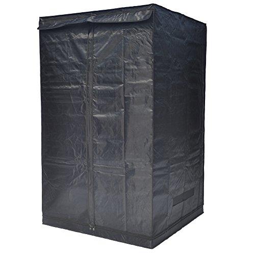 "41BxtvdJyXL - Indoor Grow Tent,Smart 32""x32""x62"" Reflective 600D Mylar Hydroponic Grow Tent with Heavy Duty Anti-Rust Zipper for Indoor Plant Growing Black 3'x3'"