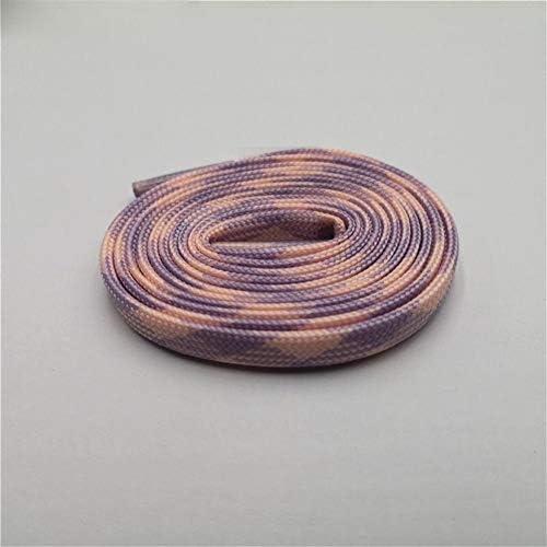 XJYWJ トレンドパーソナリティスポーツメンズ・レディース・フラット二つのトーングローでダーク靴ひも靴ひもルミナス用スニーカーキャンバスブーツ (Color : 1350Glow Purple Pink, Size : 100cm)