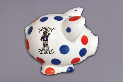 Ceramic Collegiate Piggy Bank (Ole Miss ()