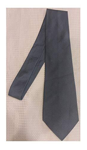 - Stafford Blue and White Stripped Silk Necktie