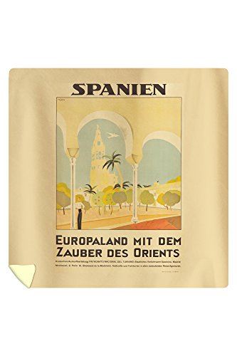 Spanien Vintage Poster (artist: Tejada) Spain c. 1929 (88x88 Queen Microfiber Duvet Cover) by Lantern Press