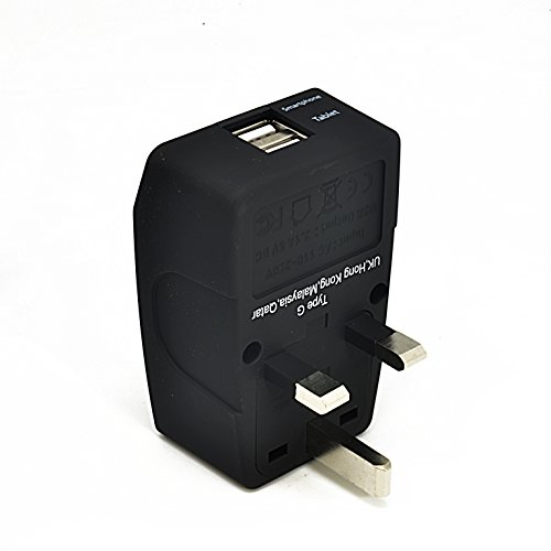 Ceptics 2 USB UK Travel Adapter 4 in 1 Power Plug (Type G) - Universal Socket
