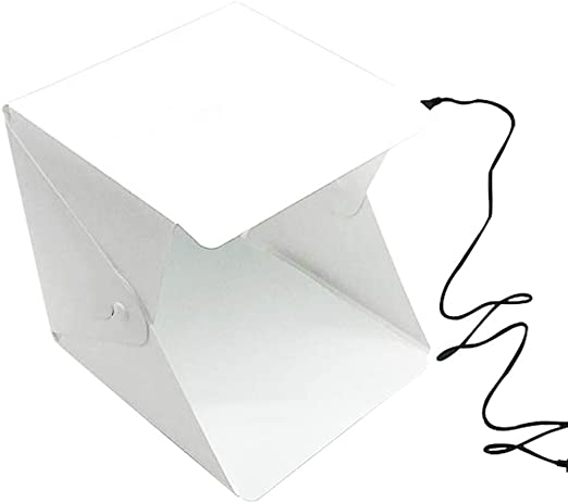QWERTOUY 20 LED Mini Studio Photo Box 24cm Caja de luz para fotografía Caja Caja de luz Plegable Whitebox Photobox: Amazon.es: Hogar