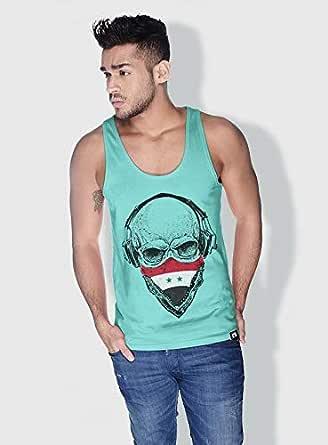 Creo Syria Skull Tanks Tops For Men - Xl, Green