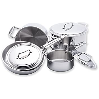 Amazon Com Usa Pan 1550cw 1 5 Ply Stainless Steel 8 Piece