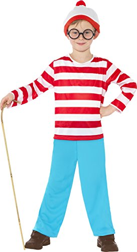 Wheres Wally Fancy Dress (Children'd Red And White Where's Wally Fancy Dress Costume.)
