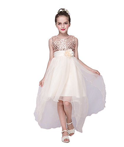 Kids Showtime Sparkly Fancy Tailing Formal Occasion Event Dress Size 2 to 8Y(Gold,6Y) (Sparkly Fancy Dress)