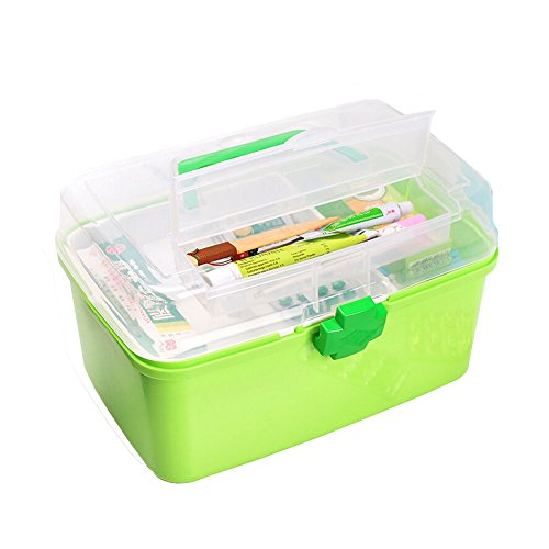 """[GREEN] Creative Large Portable First Aid Kit Travel Medical Box, 11.8""""x7.3"""""""
