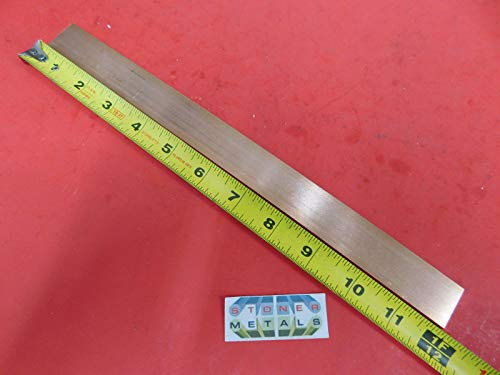 "1 Pc of 1/8"" x 1"" C110 COPPER BAR 14"" long Solid Flat Mill Bus Bar Stock H02 .125""x 1.00"