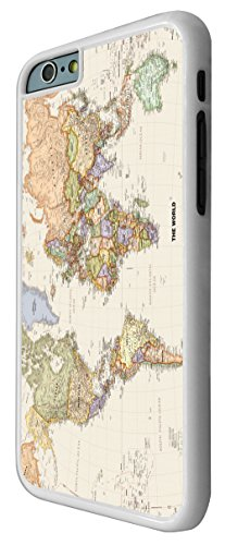 178 - Cool Fun World Map The World Look Design iphone 6 6S 4.7'' Hülle Fashion Trend Case Back Cover Metall und Kunststoff - Weiß