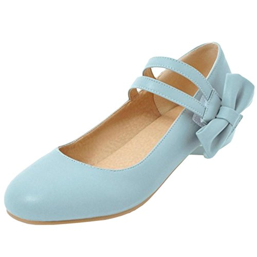 Bowknot Pumps Women Cute Blue KemeKiss xwgUw