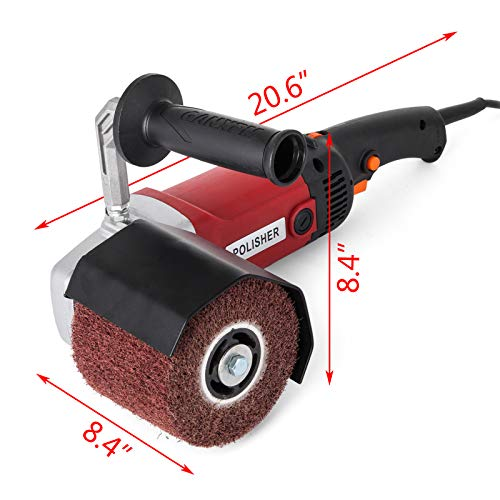 VEVOR Stainless Steel Polisher Handheld Sander Polisher Wheel 1200W Burnishing Machine 4 Polishing Wheels 110V