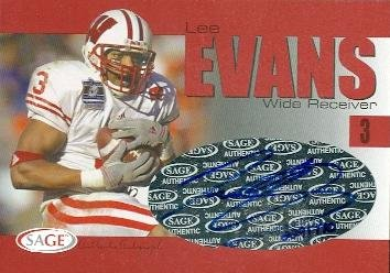 Autograph Warehouse 86503 Lee Evans Autographed Football Card Wisconsin 2004 Sage Rookie Red No - Autograph Lee Evans