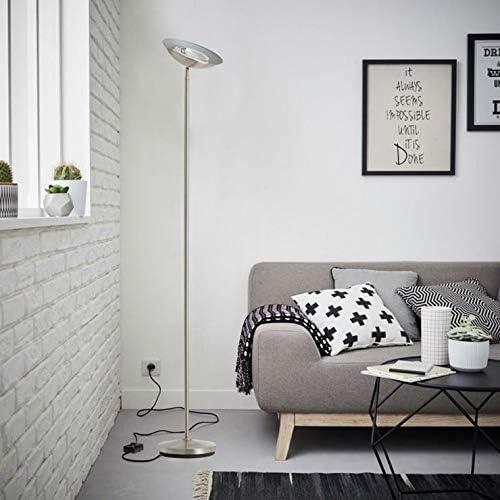 GUERNESEY-Lámpara de pie inclinable con regulador de metal, altura 175 cm, acero brillante
