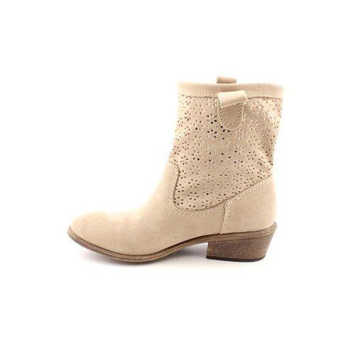 Amerikaanse Rag Womens Giggi Lederen Amandel Teen Mid-kalf Mode Laarzen Taupe