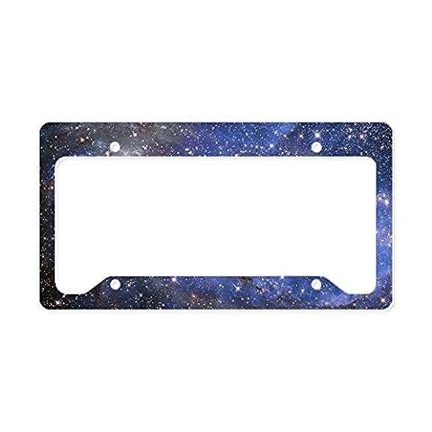 CafePress - Far Away Spiral Galaxy. - Aluminum License Plate Frame, License Tag Holder - Shimmer Spiral