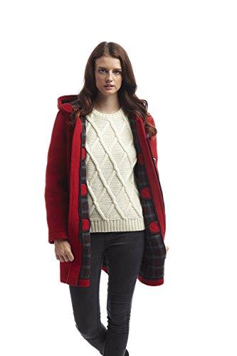 Original MontgomeryDamen Mantel Rot Rot