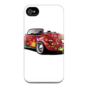 Fashion XvcBbLp6794rwyVI Case Cover For Iphone 4/4s(colourful Car)