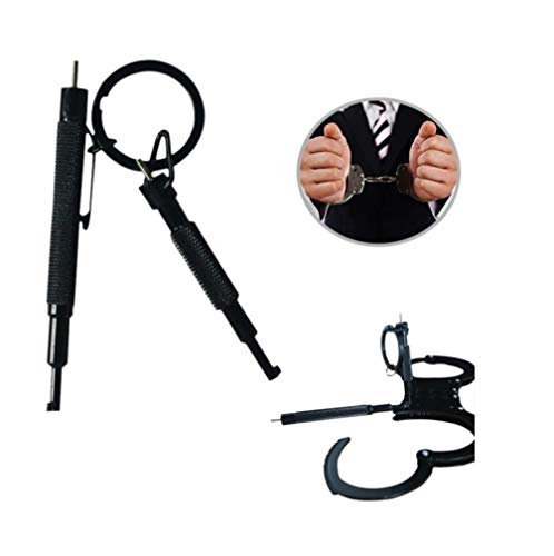 MoreBest Handcuff Key, Metal Alloy 2 in 1 Swivel Hand Cuff Keys,Black Cuff Key with Pen Clip for Hand Cuff, Police and Outdoor