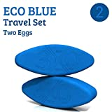 Three Minute Egg® Yoga Block Travel Set - 2 Yoga Eggs - ECO Blue - Made in USA