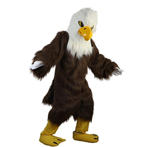 White Head Brown Eagle Mascot Costume Cartoon Character Adult Sz Real Picture]()